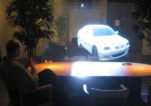 3d holographic projection car